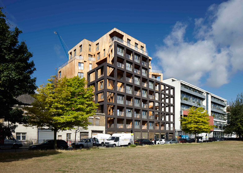 The Cube: Hawkins Brown Complete Cross Laminated Timber Building in Shoreditch