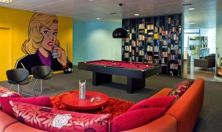 Funky Meets Functional in Callender Howorth's redesign of Flamingo's London office space