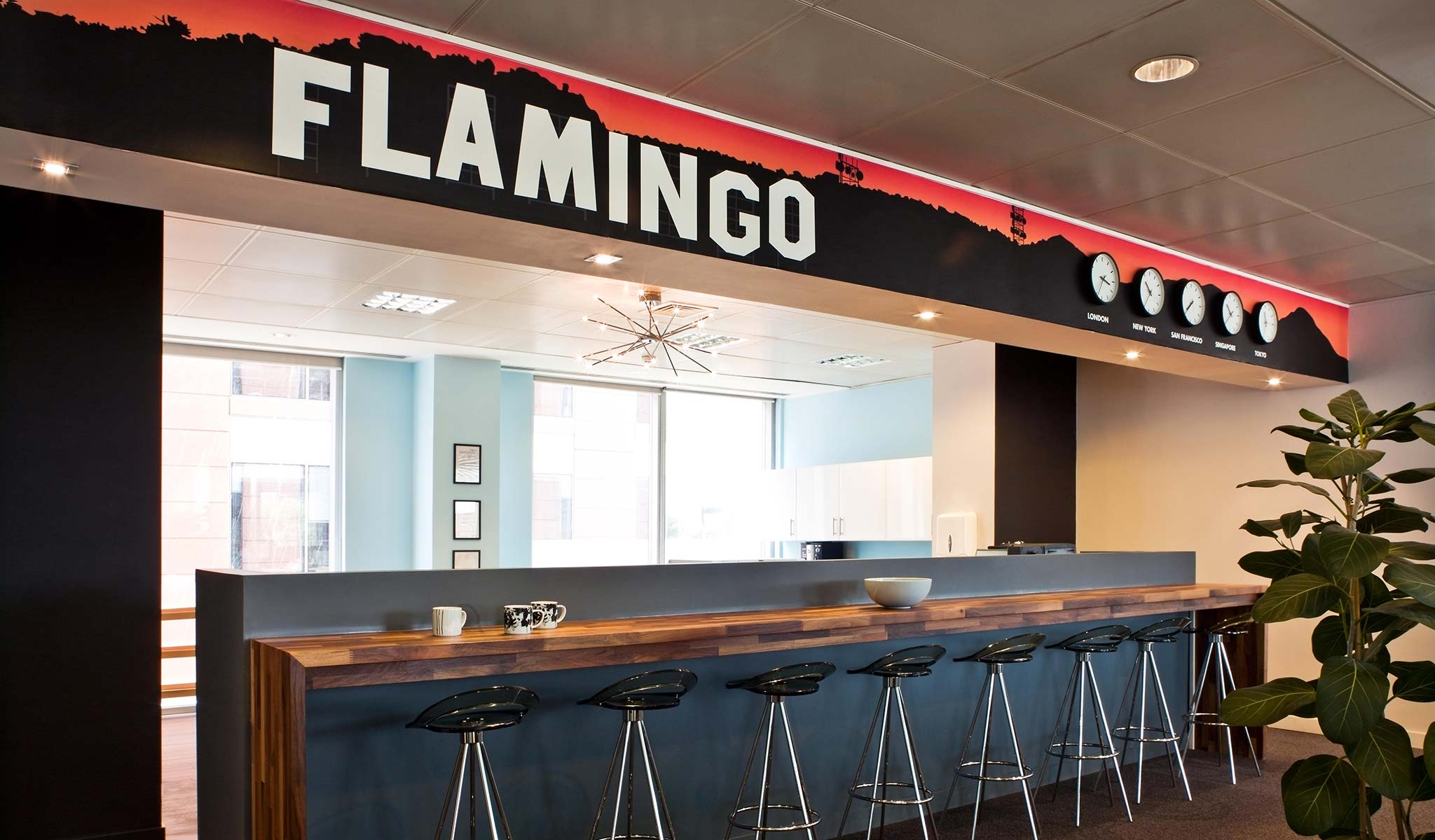 Callender howorth redesigns flamingo 39 s london office for Redesign office space