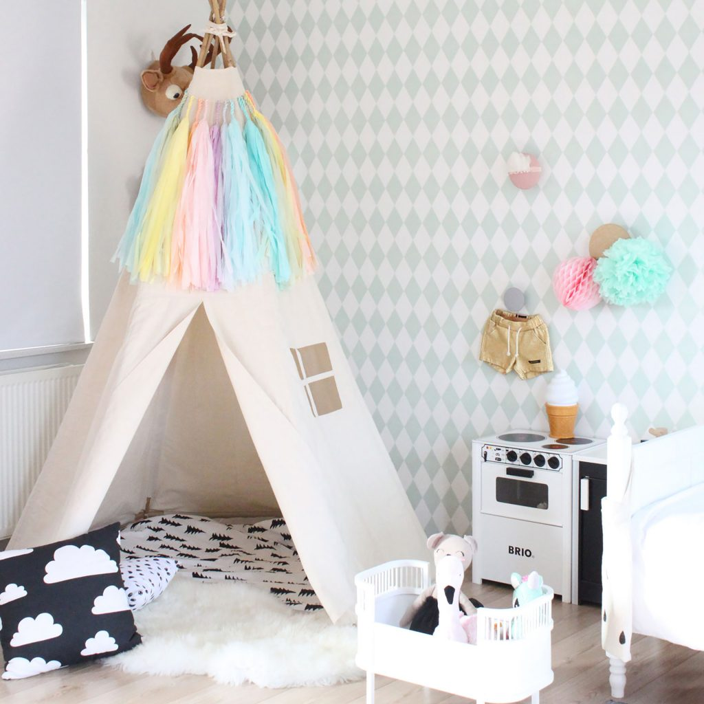 kids playroom teepee via Moozle Home
