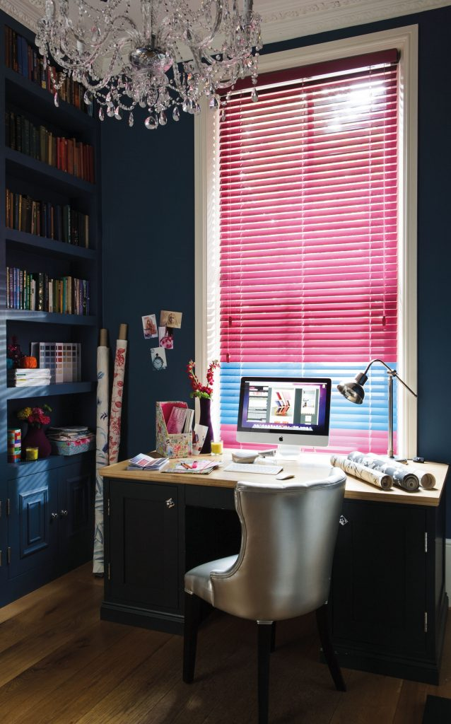 Colour Pop Pink and Electric Blue blinds