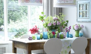 Spring Glass Vases From Berry Red