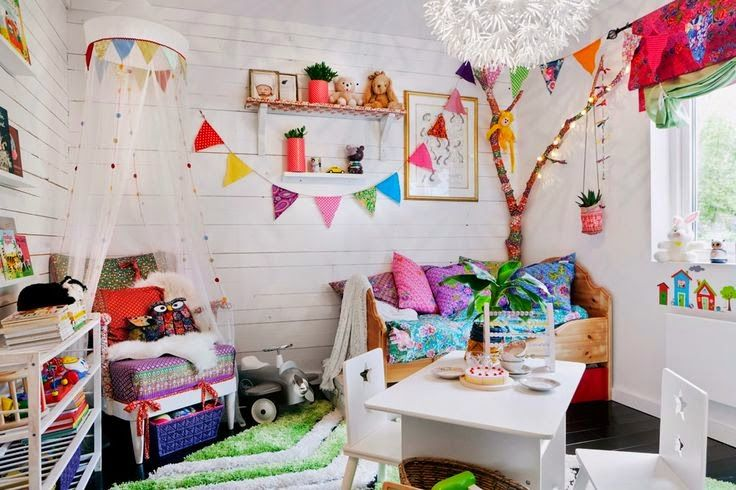 Eclectic playroom