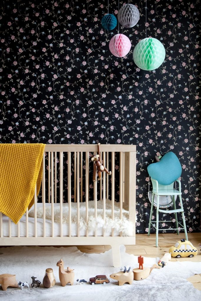 Floral themed nursery