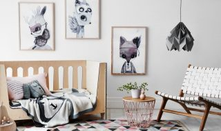 Modern scandi chic nursery