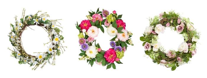 Spring wreathes