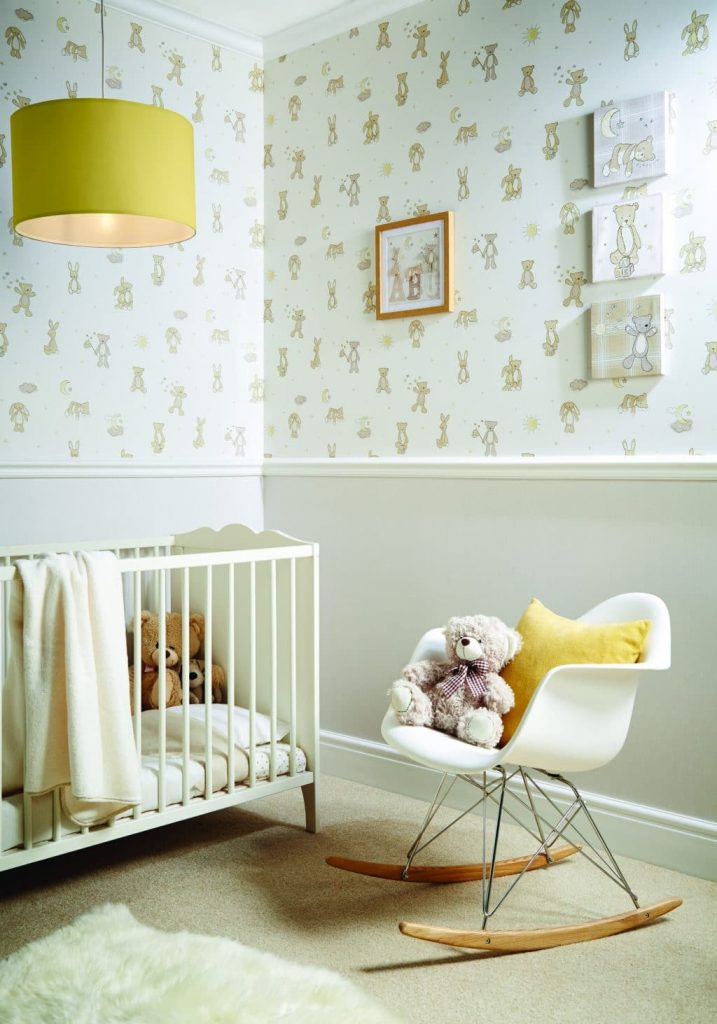 Traditional nursery with a modern twist