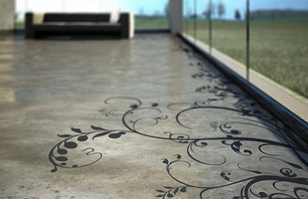 What Are The Finishing Options Available For Concrete Floors? Stencilled Concrete