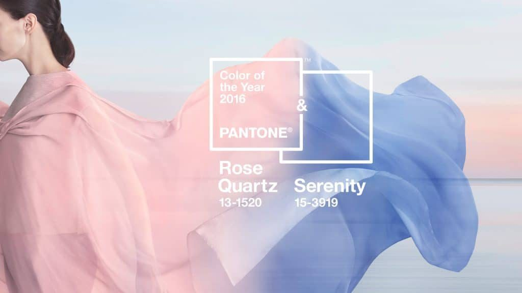 Pantone Colour of the Year 2016: Rose Quartz and Serenity