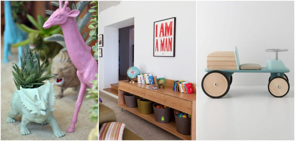 How To Get A Stylish, Yet Kid-Friendly Living Room - Child's Toys As Ornaments
