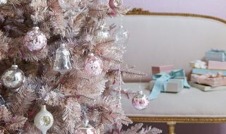 Shabby chic pink Christmas Tree