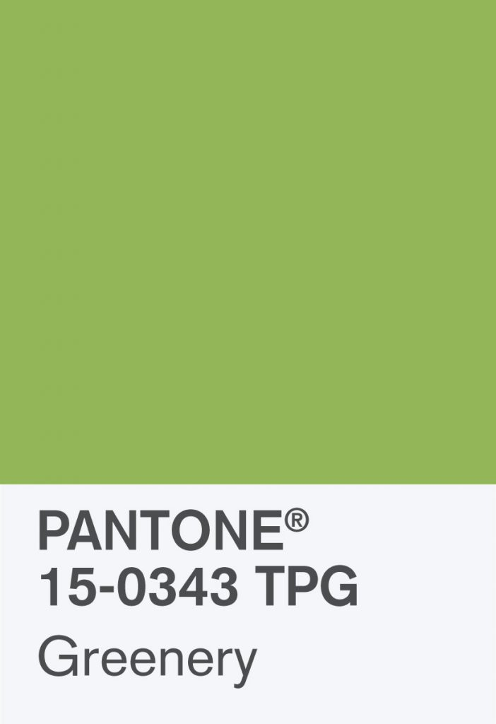 Pantone Greenery Paint Chip