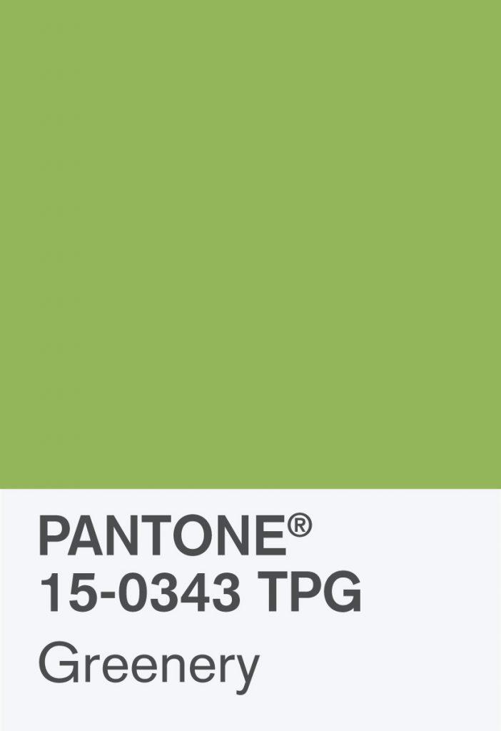 Pantone Greenery Paint Chip