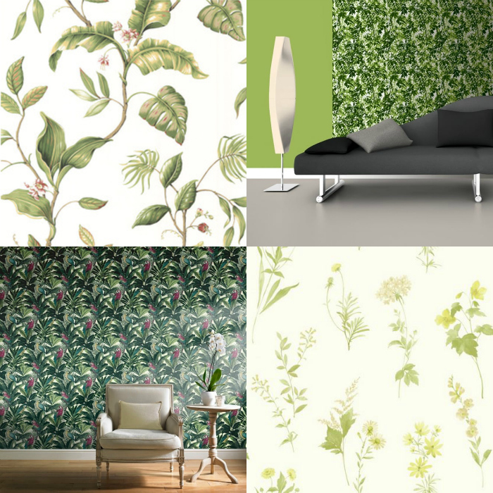 Green tropical and botanical wallpapers