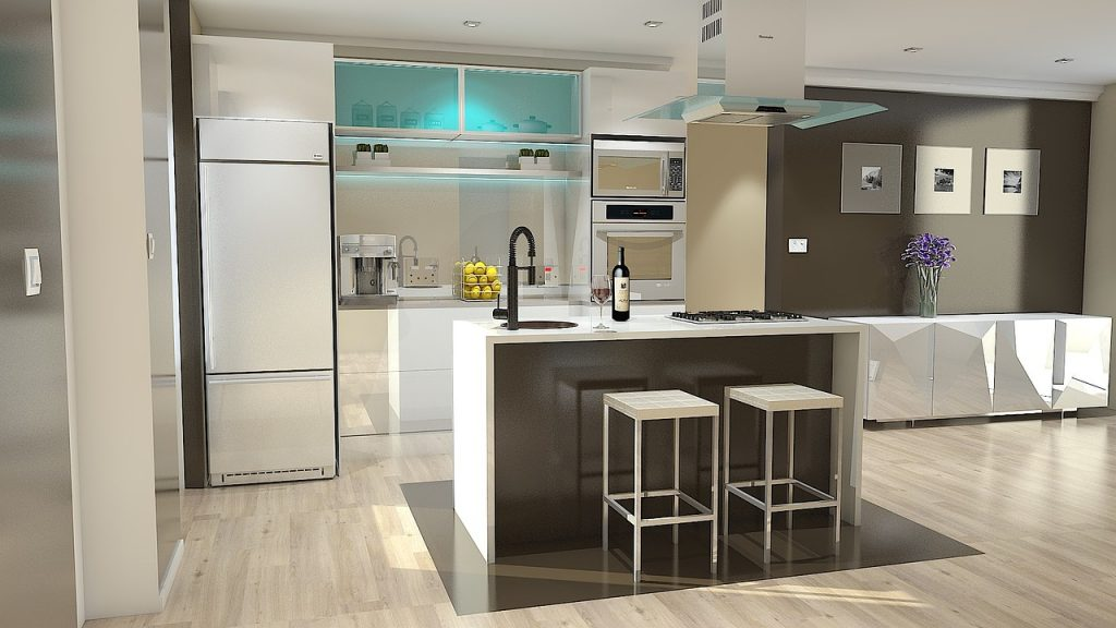 Design an easy clean kitchen interior desire for Easy to clean kitchen cabinets