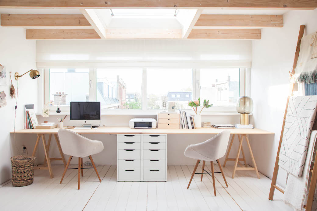 7 home office loft conversions that will make working from for Minimalist house design 36 72