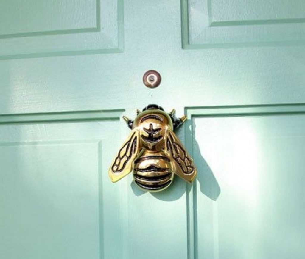 5 Great Ways To Modernise Your Front Door - Bumble Bee Door Knocker from Home Depot