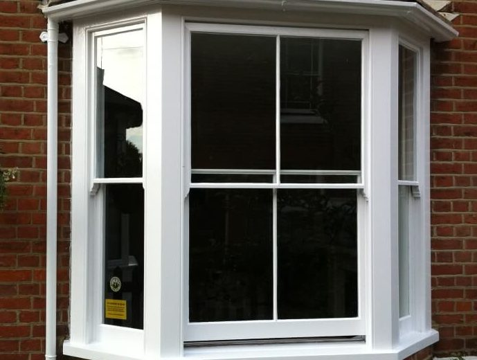 London Sash Windows - Original sash window draught proofed and decorated
