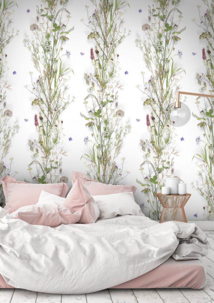 Botanical Wildflower Wallpaper