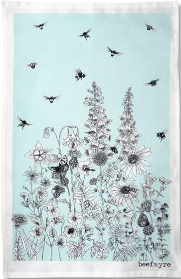 Wildflower tea towel