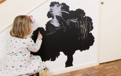 5 Quick Ways To Update Children's Rooms This Weekend - Self Adhesive Blackboard From http://inkmillvinyl.co.uk/