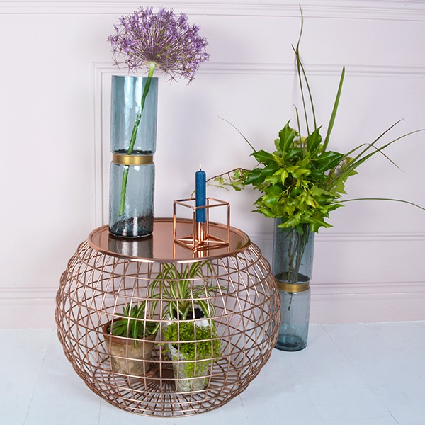 Still Crushing On Copper In 2017 - Copper Wire Side Table - MiaFeur.com
