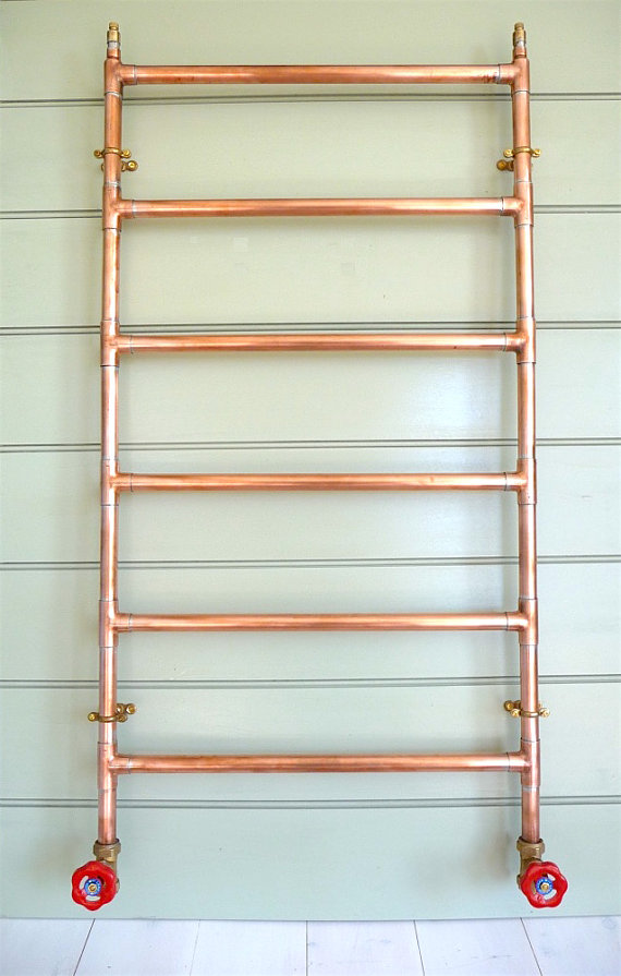 Radiators reimagined! 10 beautiful radiators that'll make you say WOW - COPPER HAND TOWEL RADIATOR
