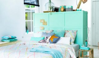 Make The Most Of Your Space - Image From vtwonen.nl - Headboard And Room Divider In One