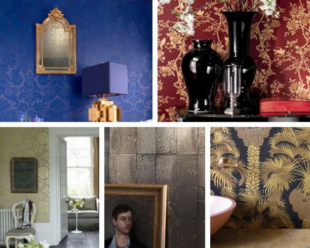 How To Make Your Home Look More Expensive - Luxury Wallpaper - Images From FashionInteriors.co.uk