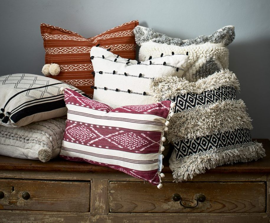 How To Create The Perfect Autumn Living Room - Cushions - Image Via IdealHome.co.uk - By Dan Duchars