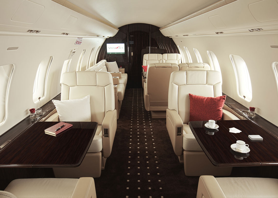Inside The World's Finest Private Jets - challenger 605 Vistajet