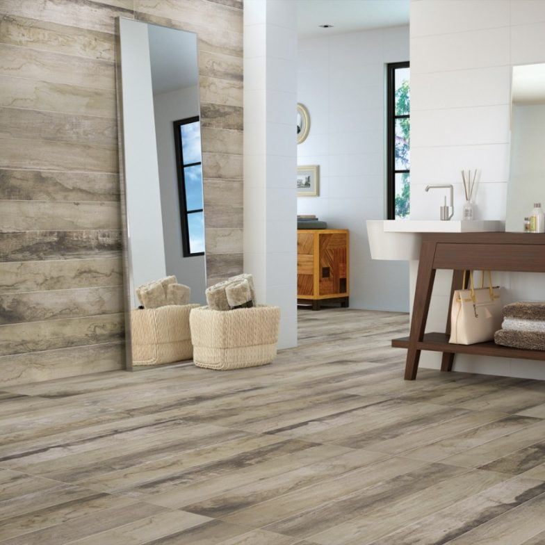 How To Use Bathroom Wall Tile Ideas To Create Your Own Luxury Spa Retreat - Wood Effect Tiles - Image Via CrownTiles.co.uk