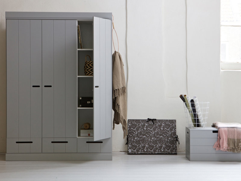 Bedroom Tweaks To Help Your Teen Wake Up Feeling Refreshed - Mode Manhattan Grey 3 Door Wardrobe