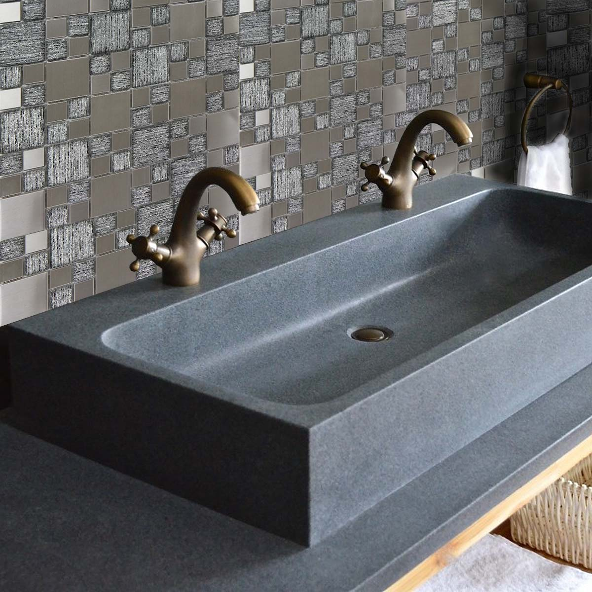 How To Use Bathroom Wall Tile Ideas To Create Your Own Luxury Spa Retreat - Mosaic Tiles - Image Via CrownTiles.co.uk
