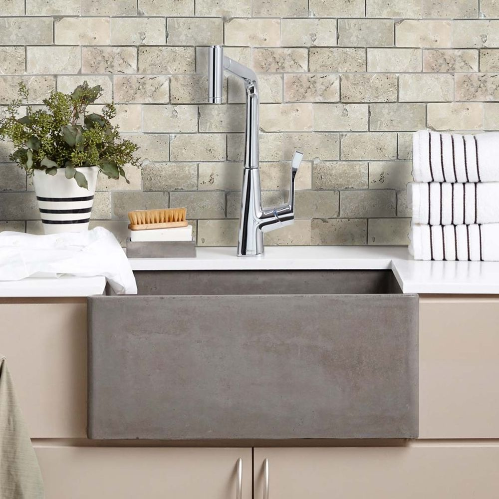 How To Use Bathroom Wall Tile Ideas To Create Your Own Luxury Spa Retreat - Travertine Brick Tumbled White Mosaic Tiles - Image Via CrownTiles.co.uk