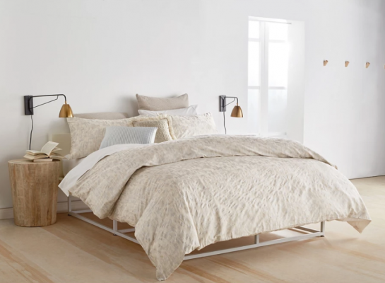 Trend Watch: Cream With A Hint Of Darkness - Image Via Debenhams,com - DKNY 'Motion' Duvet Cover