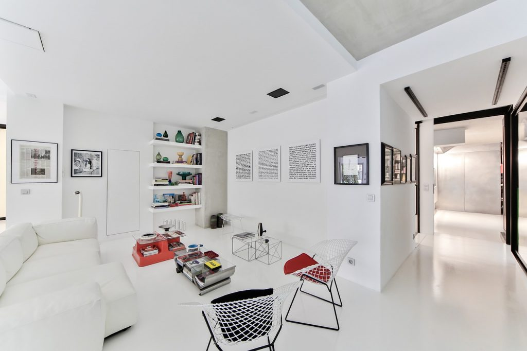 All White Lounge Living Room