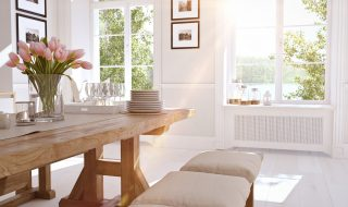 Bright Room, Kitchen, Dining Room, White Room