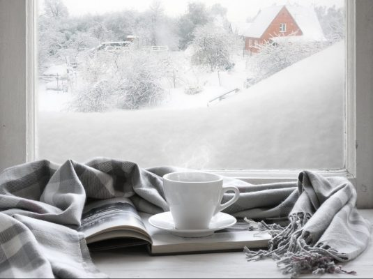 Winter Snow Cosy Warm Drink Blanket