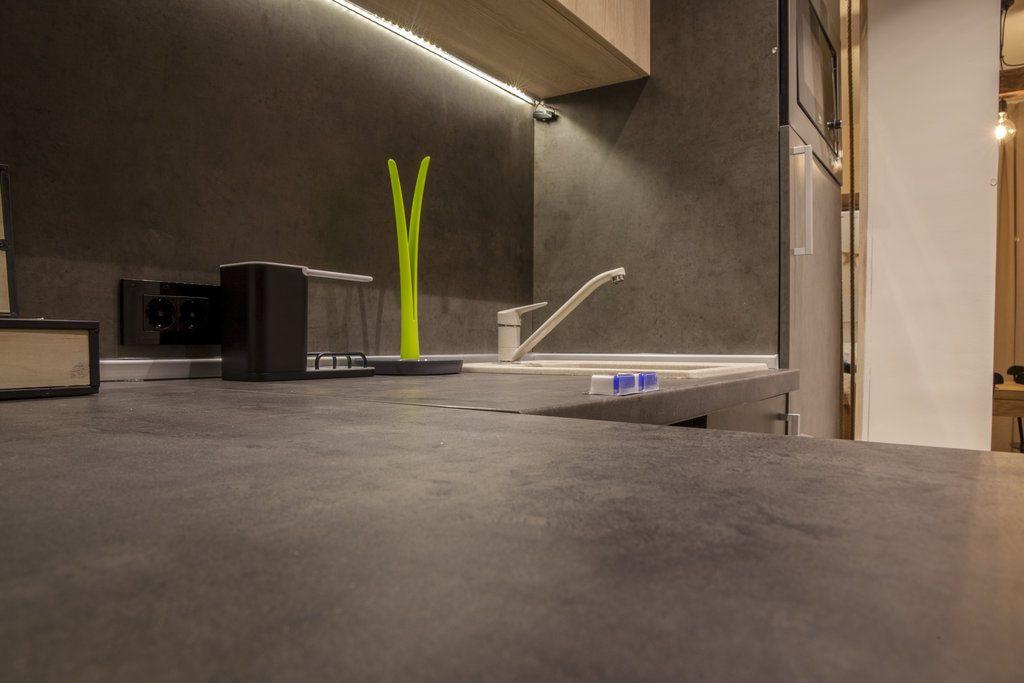 worktops in the kitchen