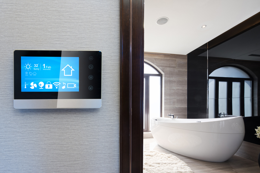 Bathroom with smart technology