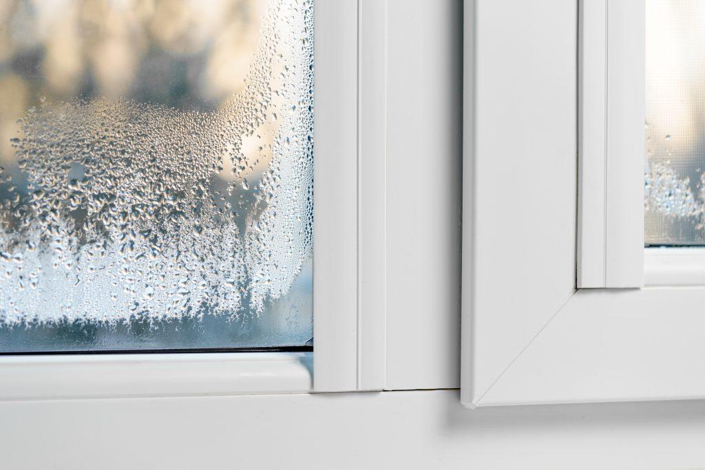 Misted Windows condensation mist on double glazed windows.