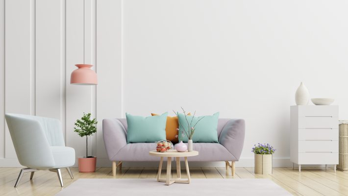 Bright cosy living room