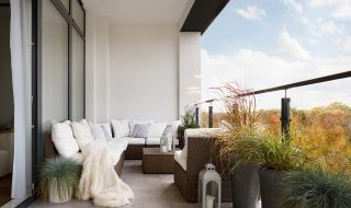 Apartment with large balcony/terrace.