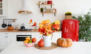 Autumn kitchen interior