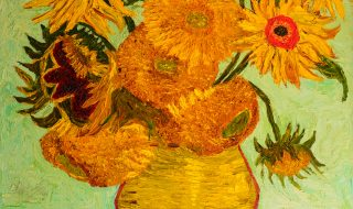 "Reproduction: ""Sunflowers"" Vincent Van Gogh."