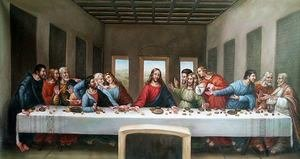 The last supper.